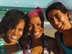 With Adriana and Jazz.