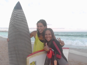 With Lorena, by Bahian surf sistah!