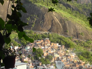 The view across Rocinha, walking down from my house.
