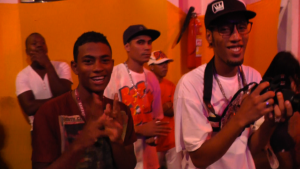My first day surfing in Salvador, I made a friend Tharcisio, who was also a rapper.  He introduced me to his hip hop crew (which includes many amazing pop and lockers), and we all met up at the end of my busy day in Pelhourinho to attend a show.