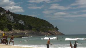 At São Conrado beach