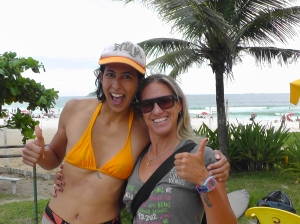 With Andrea Lopes, surf champion and coach extraordinaire!