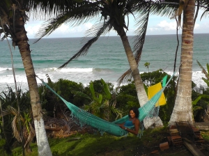 Better than television... check out the view of the surf break I had from my hammock!